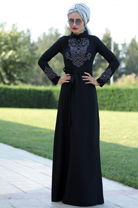 Selma Sarı Design Siyah Mira Elbise