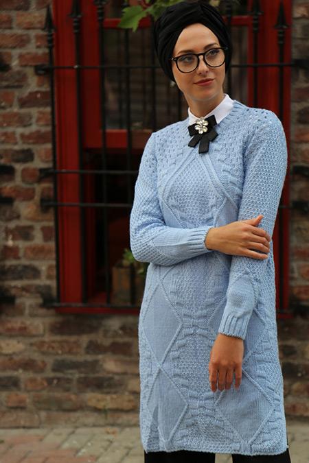 İnşirah Bebe Mavi Kazak