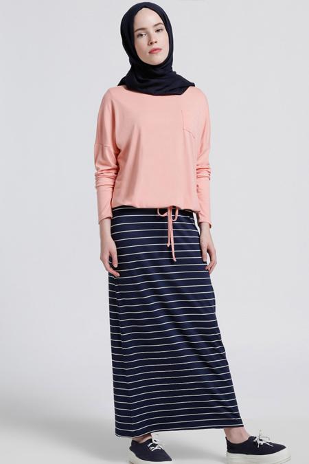 Benin Somon Kolsuz Elbise & Bluz İkili Takım