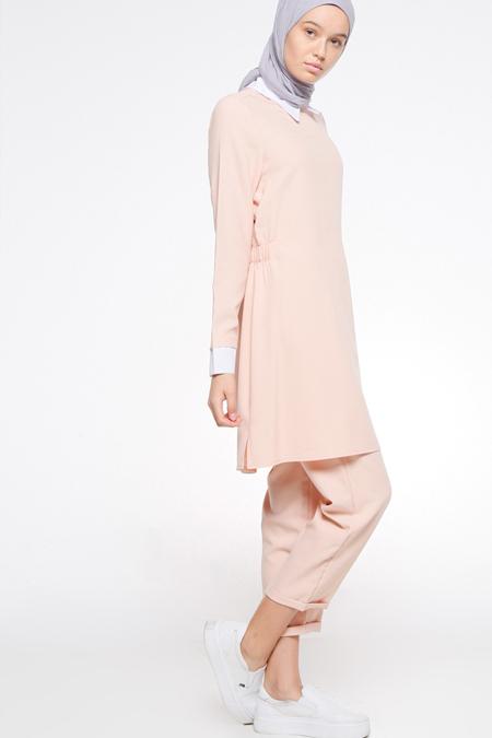 Bwest Pudra Tunik & Pantolon İkili Takım