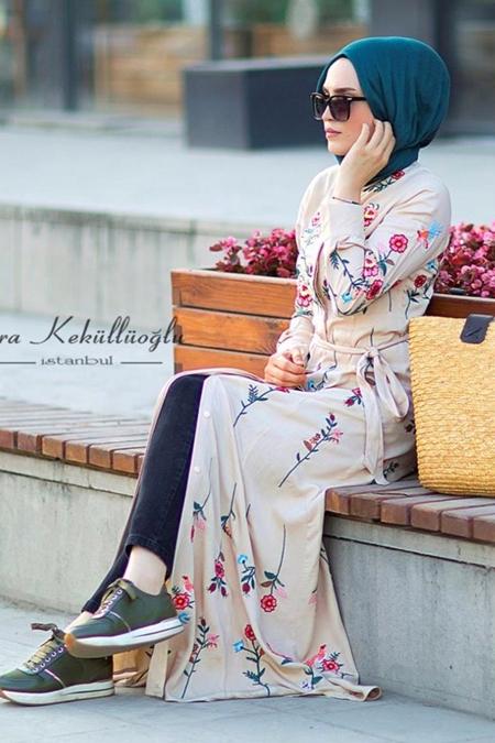 Esra Keküllüoğlu Full Nakış Gömlek Elbise