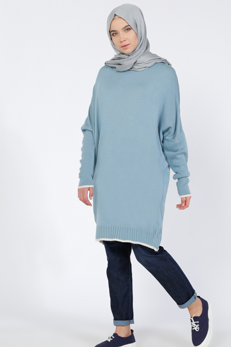 Everyday Basic Mavi Triko Tunik