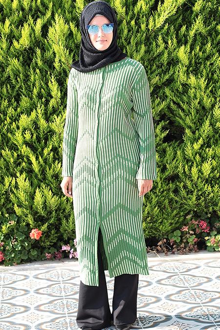 HLD Triko Yeşil Miss Hırka