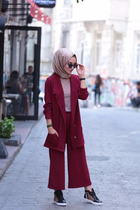 Kadriye Basturk Dügmeli Ceket Pantolon Takım