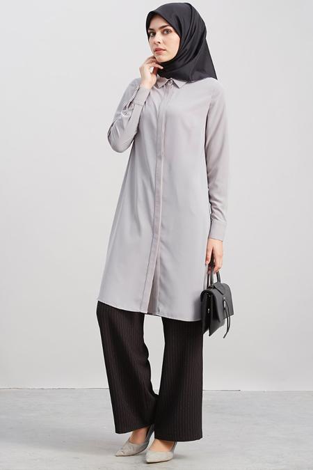 Kayra Gri Basic Tunik