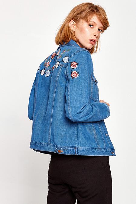 Koton İşlemeli Jean Ceket