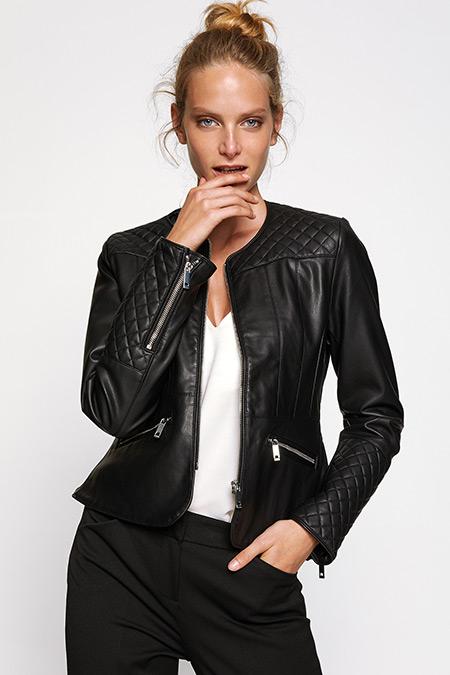 Koton Deri Görünümlü Ceket