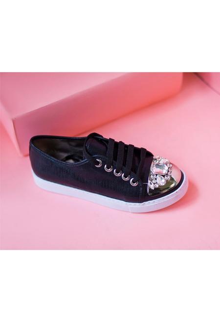 Marcatelli Siyah Taşlı Sneakers