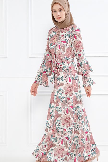 Refka Bej Çiçek Desenli Elbise