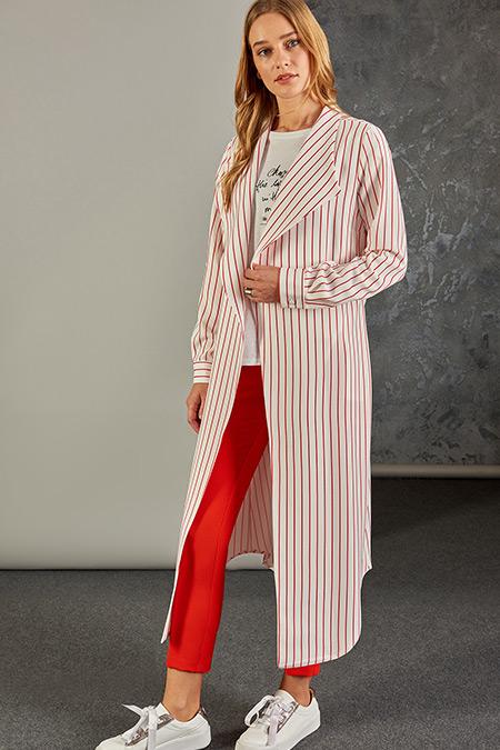 Vavist Kırmızı Giy-Çık Kadın Ceket
