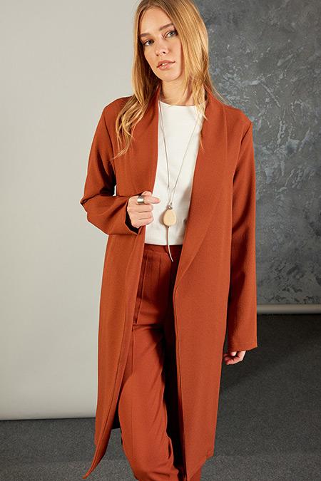 Vavist Kiremit Blazer Kadın Ceket