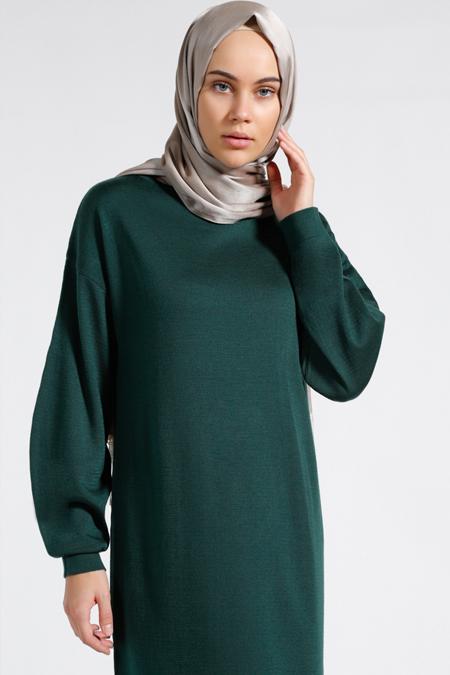 Benin Yeşil Triko Elbise
