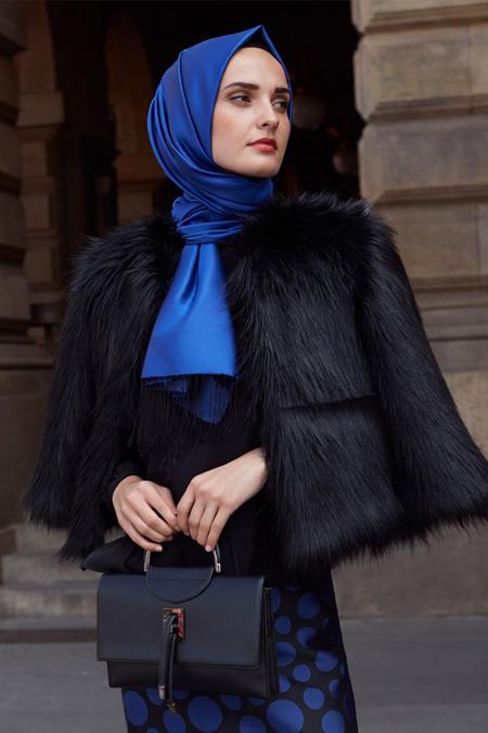 Kayra Siyah Suni Kürk Ceket