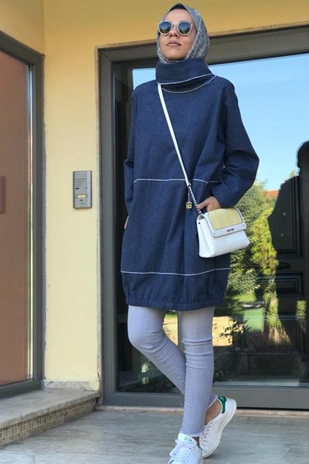 Lavinia Couture Dik Yakalı Sweatshirt