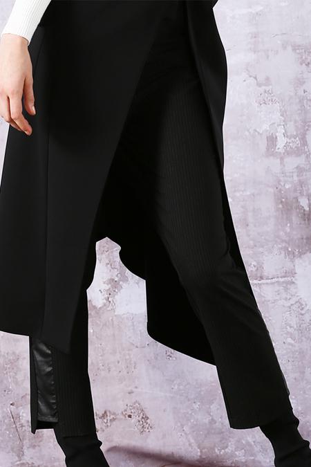 MODGREY Paçası Deri Detaylı Pantolon