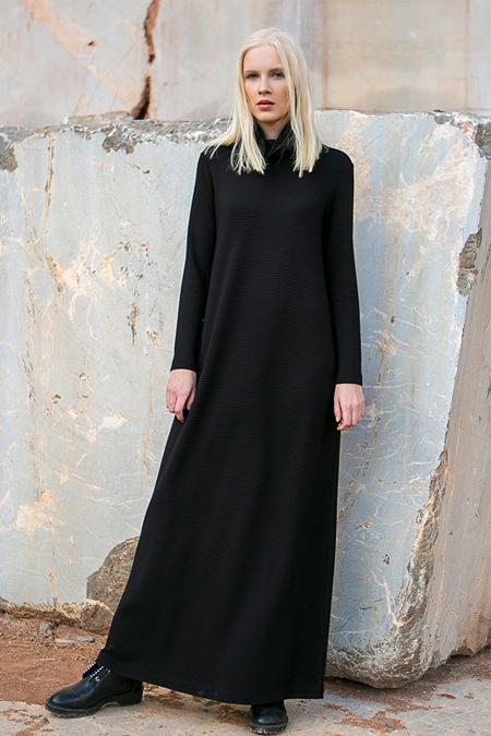 MODGREY Siyah Balıkcı Elbise