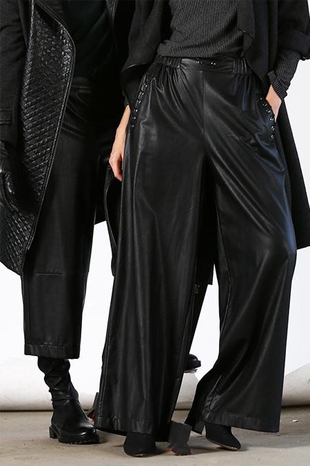 MODGREY Siyah Bol Paça Pantolon