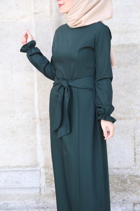 d48c9f226d3 Morfistan Belden Bağlamalı Tesettür Elbise Online Satış, İndirimli ...