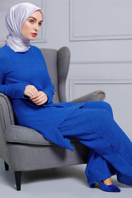 Refka Saks Tunik & Pantolon İkili Takım