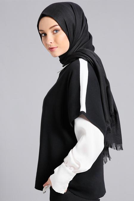 Refka Siyah Triko Bluz