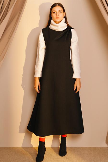 Kuaybe Gider Siyah Jile Elbise