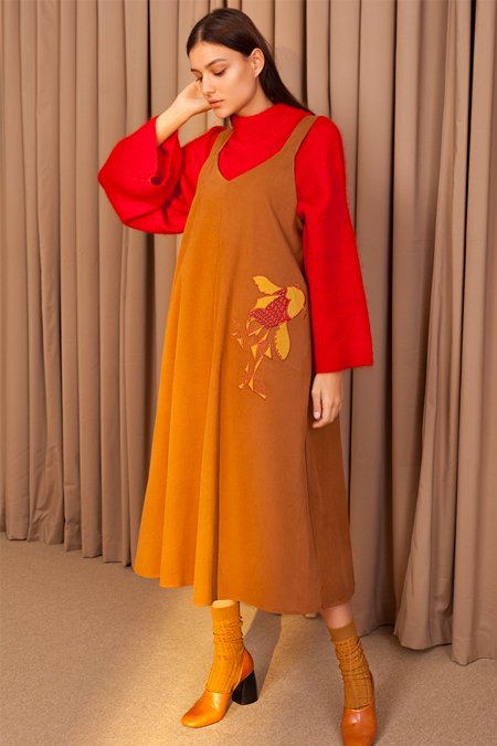 Kuaybe Gider Tarçın Jile Elbise