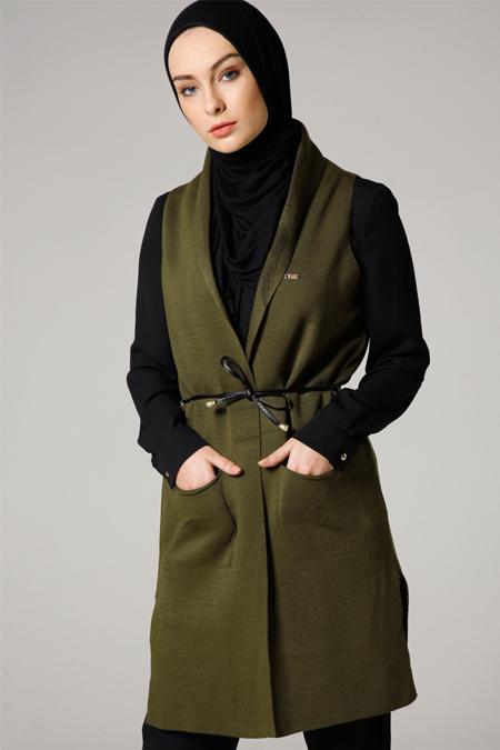 Seyhan Fashion Haki Triko Yelek