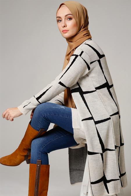 Seyhan Fashion Taş Triko Hırka