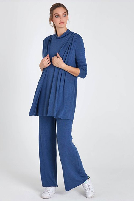 Cloche Mavi Yün Takım