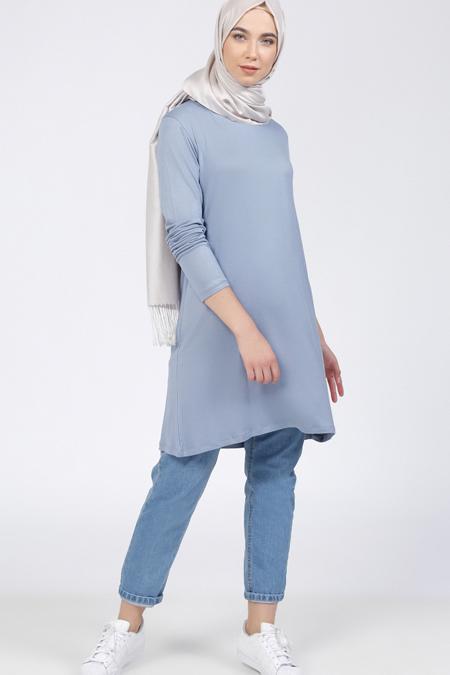 Everyday Basic Buz Mavi Basic Tunik