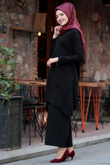 Gamze Özkul Tunik & Pantolon İkili Takım