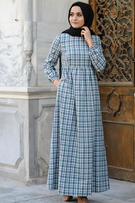 Nurgül Çakır Mint Robalı Elbise