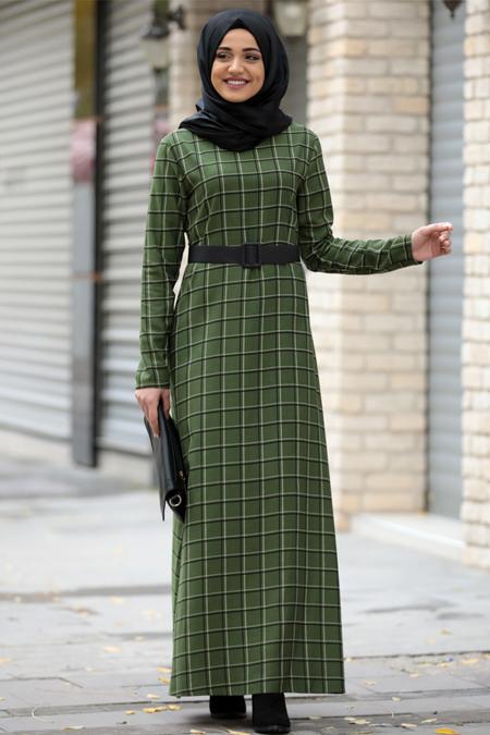 Piennar Yeşil Hazal Elbise