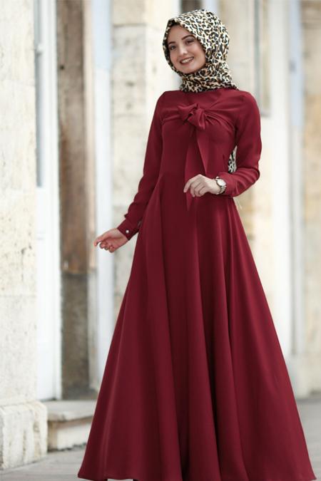 Puqqa Bordo Ahenk Elbise