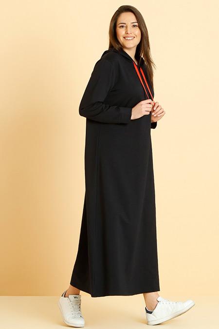 Alia Lacivert Kapüşonlu Spor Elbise