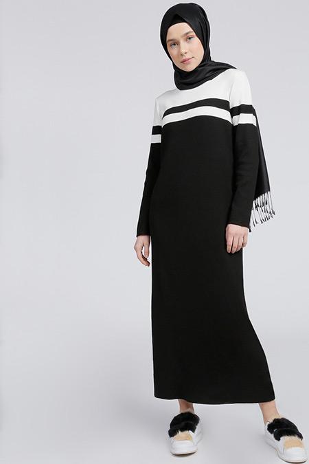 Benin Siyah Triko Elbise