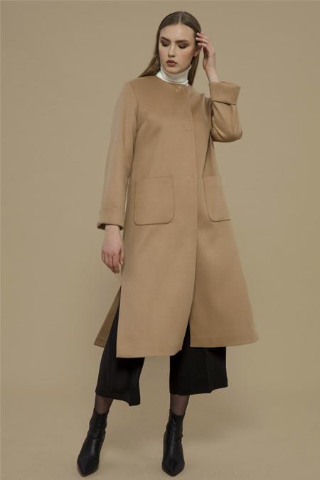 Merve Dağlı Devetüyü Palto
