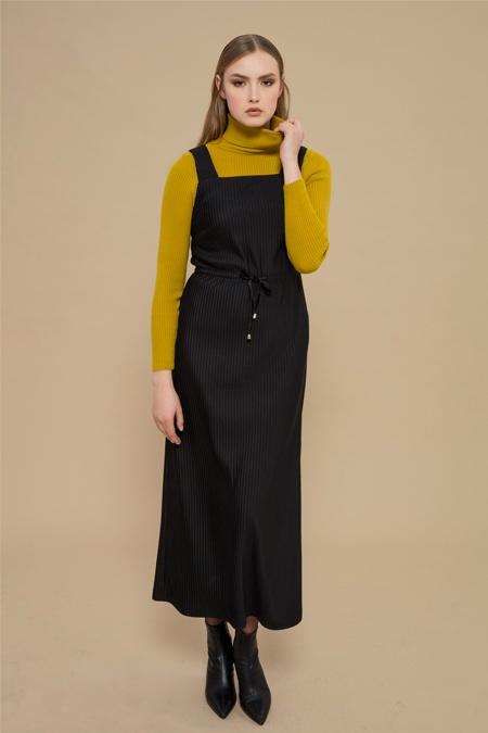 Merve Dağlı Siyah Dumo Elbise