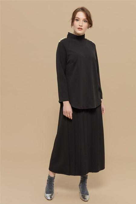 Merve Dağlı Siyah Pearl Takım