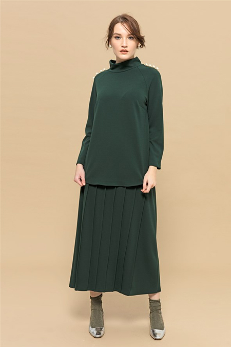 Merve Dağlı Yeşil Pearl Takım