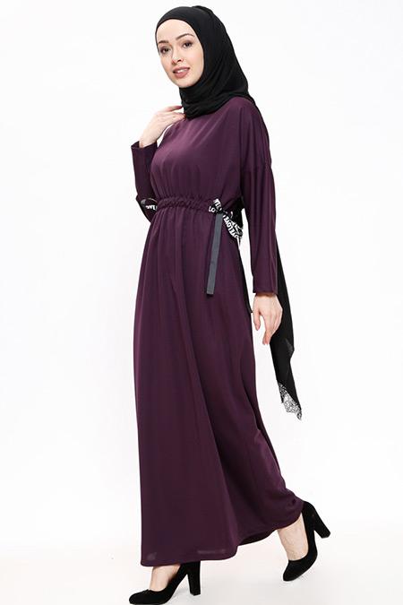 Miss Paye Beli Lastikli Elbise