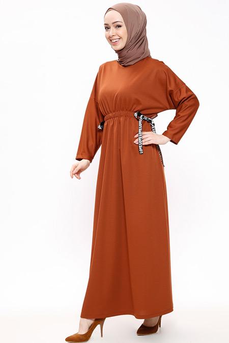 Miss Paye Taba Beli Lastikli Elbise