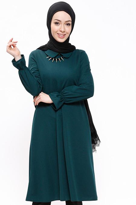 Miss Paye Yeşil Kolyeli Tunik