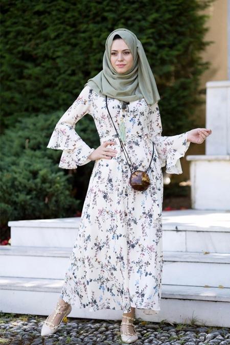 EMİLYA TASARIM Beyaz Elbise