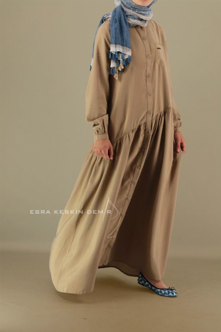 Esra Keskin Demir Bej Song Elbise