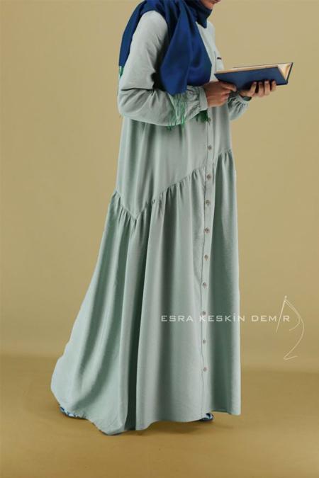 Esra Keskin Demir Su Yeşili Song Elbise