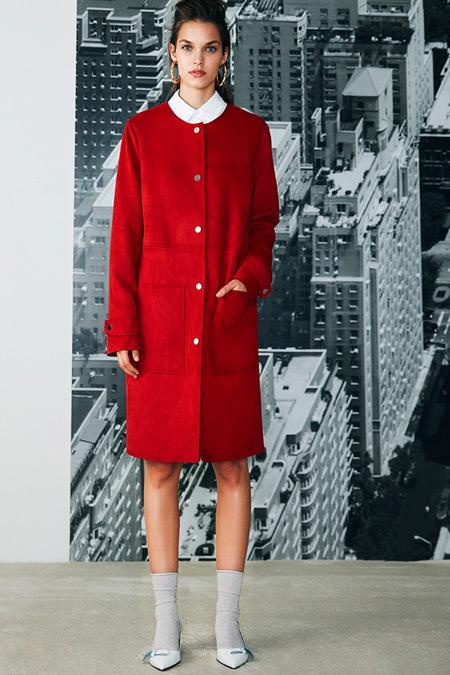 Koton Kırmızı Cep Detaylı Trençkot