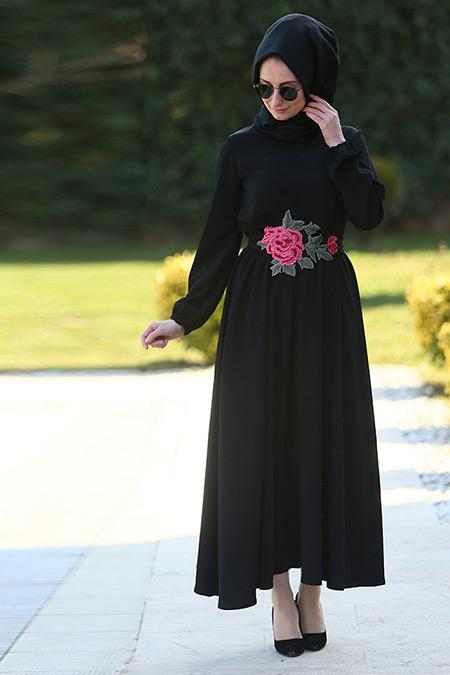 Melek Aydın Siyah Etek&Bluz İkili Takım