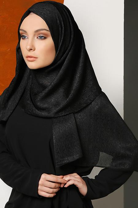 Mirach Siyah Abiye Şifon Şal