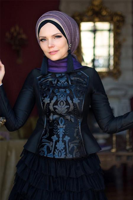 Muslima Wear Siyah Sultan Bluz
